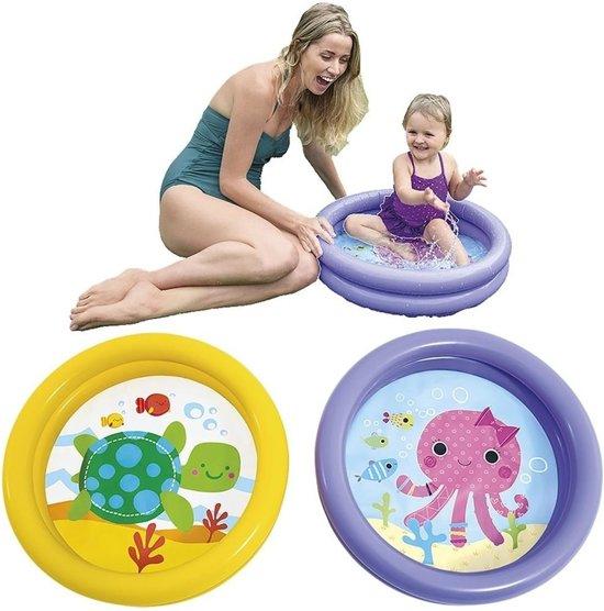 Intex baby/kinder opblaas zwembad geel 61 cm - baby zwembadje