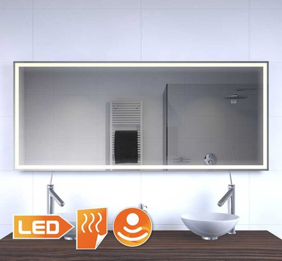 design badkamer led spiegel met verwarming en. Black Bedroom Furniture Sets. Home Design Ideas