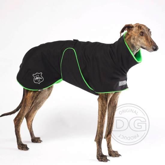 DG - Softshell® Waterdichte Hondenjas - Plus Jacket - Zwart Groen - Maat 12 (DGM1) - 5-15kg