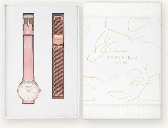 Rosefield Premium Gloss Dames Horloge - Rosé Goud Ø26mm - SHSMR-X220