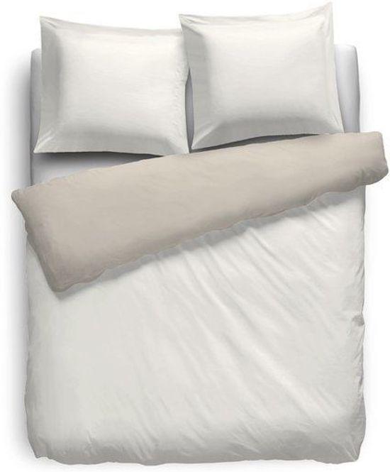 HnL Living - Dekbedovertrek - Eenpersoons - Perkal - 140 x 200/220 cm - Off-white