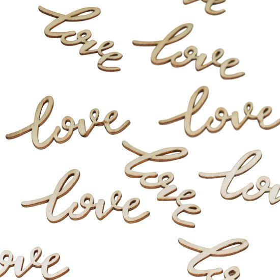 Tafel decoratie huwelijk - Love confetti hout Valentinaa