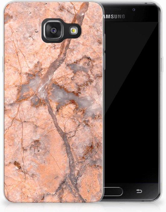 Samsung Galaxy A3 2016 TPU Hoesje Design Marmer Oranje