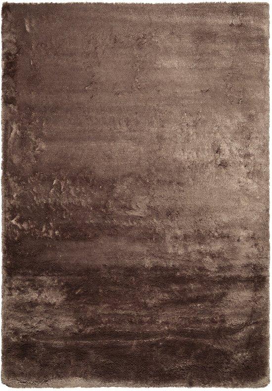 Hoogpolig zacht tapijt bruin 30 mm - 160 x 230 cm