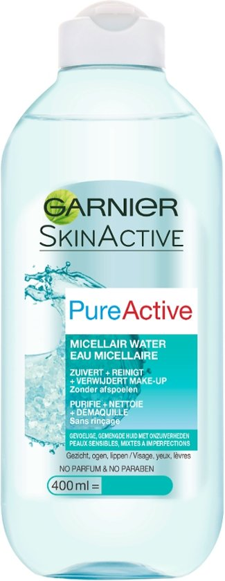 Garnier Skin Naturals Pure Active Micellair Water - 400ml - Reinigingswater