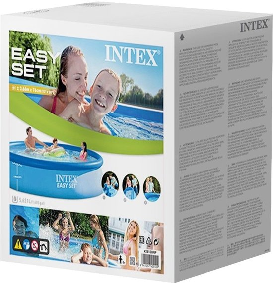 Intex Opblaaszwembad Easy Pool Set 366 X 76 Cm Blauw