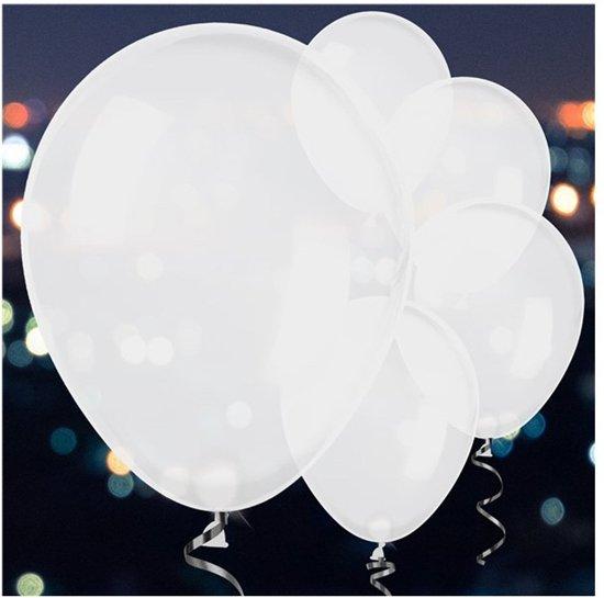 Balloominate Ballon met LED verlichting Ø 28 cm - wit - Set-5 Valentinaa