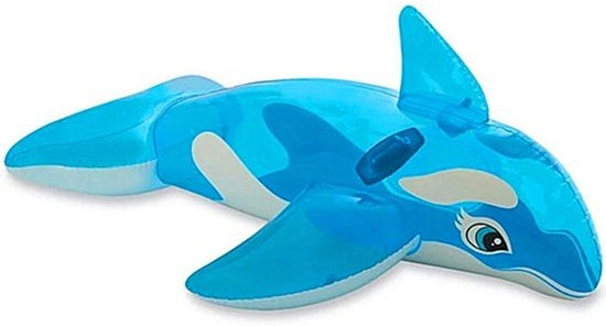 Opblaasfiguren - Inflatables Opblaasbare Walvis voor kinderen - Blauw  (151 x 117 cm)
