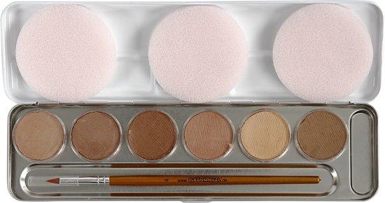 Schmink palet, 6 huidskleuren / skin colours Eulenspiegel