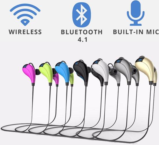 Bluetooth 4.1 In-ear Headset - Beste Draadloze Headphone - Oordopjes - Headphones - Blue tooth Koptelefoon - Sport Oortelefoon - In Ear Oortjes - Draadloos - Wireless tot 10m! - Hardloop - Hardlopen - Sporten - Zwart in Kerkeind