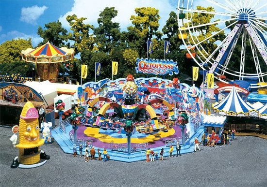 Faller Carrousel Octopussy Modelbouwdecoratie