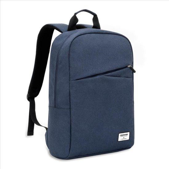 Laptop Kingslong Luxe Ruime Uitvoering Donkerblauw Voor Met Notebooks Waterdicht Inch Business Rugzaklaptopvak Tot Kleur Laptoptas In 15 En laptopvak Rugzak pB4BWnfZ