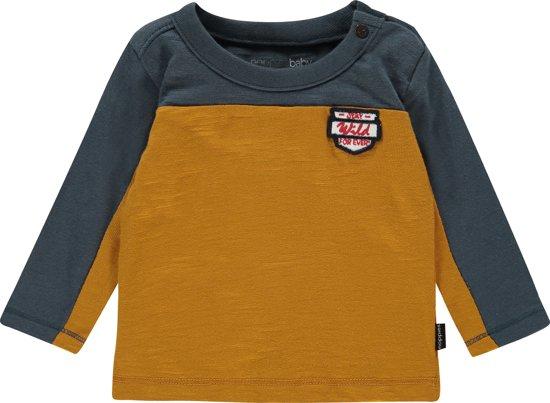 14c09f03ac0602 bol.com | Noppies T-shirt longsleeve Airmont - Midnight Navy - Maat 80