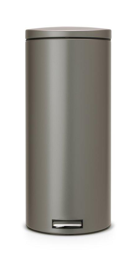 brabantia silent prullenbak l platinum with prullenbak. Black Bedroom Furniture Sets. Home Design Ideas
