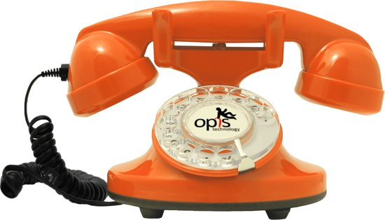 retro telefoon draaischijf Funky Fon Oranje