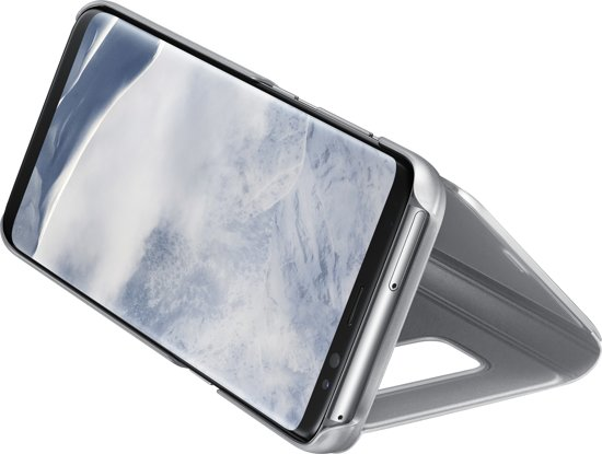 Samsung Galaxy S8 Clear View Stand Cover - Zilver