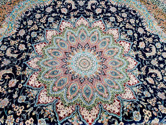 Perzisch Tapijt Blauw : Bol.com perzisch vloerkleed uit iran 200x200 rond klassieke design