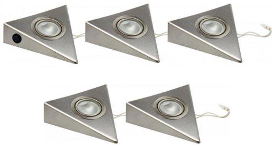 Keuken Spotjes Opbouw : Bol driehoek halogeen keuken spot st met trafo