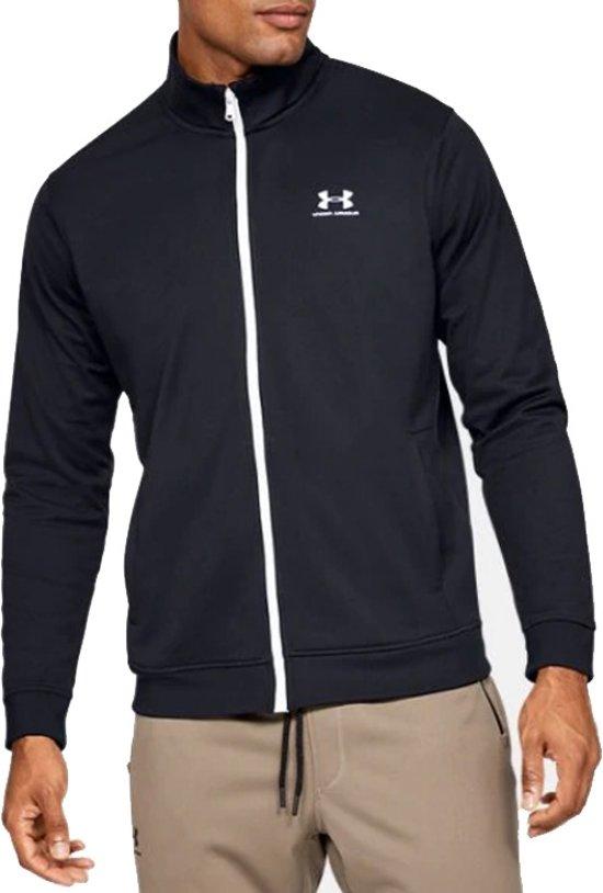 Under Armour Sportstyle Tricot Jacket 1329293-001, Mannen, Zwart, Sporttrui casual maat: XL EU
