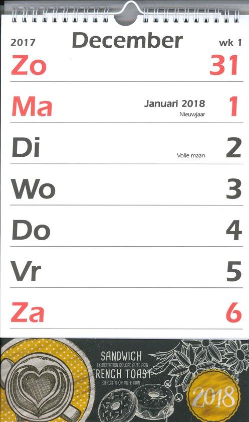 Grootletter Kalender MGP 2018 - Notitie XL coffee  - Grote letters/cijfers - 1 Week/1 pagina - 21 x 27,5 cm