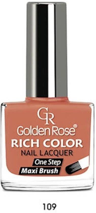 GOLDEN ROSE Rich Color oranje nagellak 109, 10,5 ml.