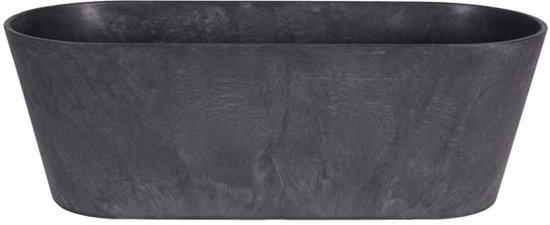 Artstone Balkonbak Claire zwart D55x16 H17