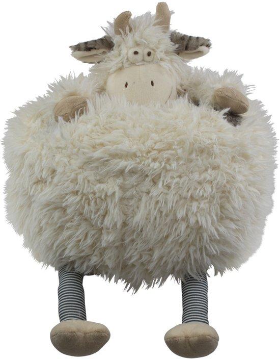 knuffel kussen koe 33cm