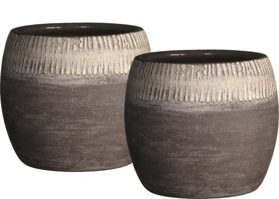 Mica decorations 2 stuks pot rond safari for Intratuin cadeaubon