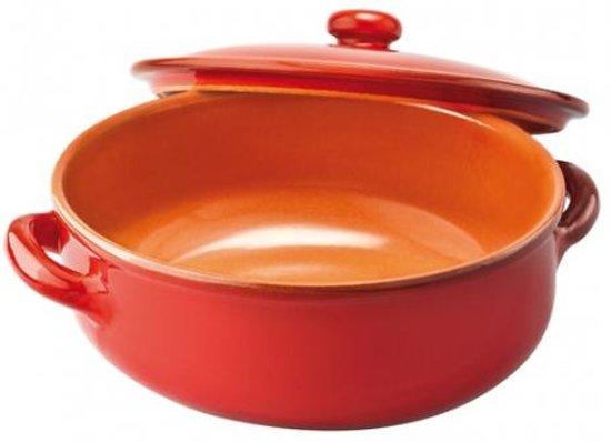 Piral Saucepan - Terracotta - Met deksel - 27 cm - Rood