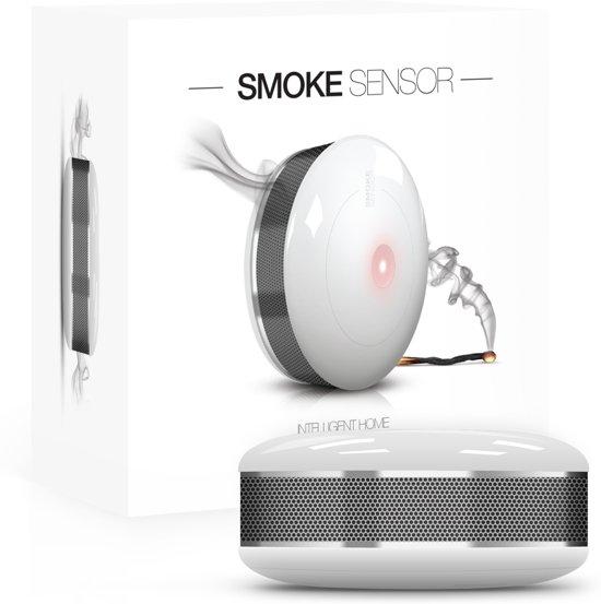 FIBARO Smoke Sensor 2 - Slimme rookmelder - werkt ook met Toon