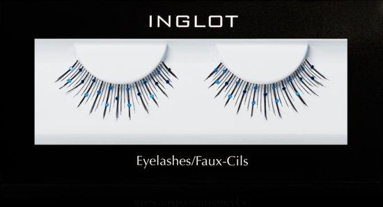 INGLOT EYELASHES 10S - Nepwimpers Blauwe Glitters Synthetisch