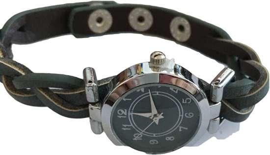 Horloge gevlochten donkerblauw