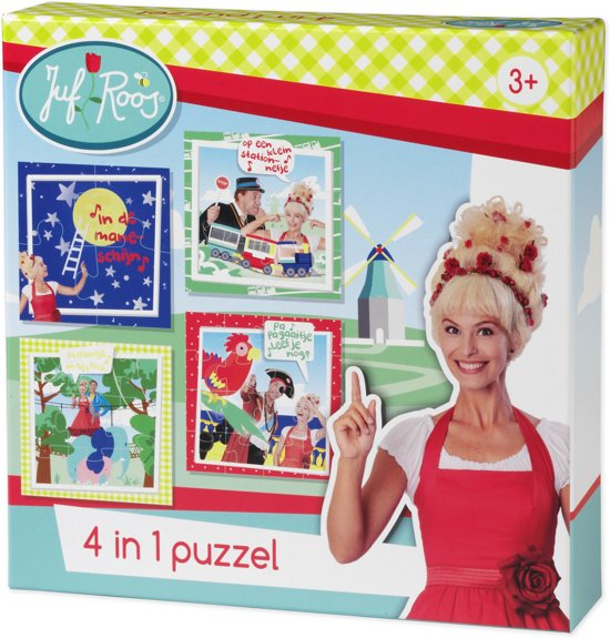 Juf Roos Puzzel 4in1