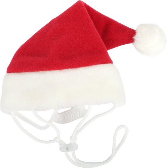 Puppia Kerst hondenkerstmuts - Rood M