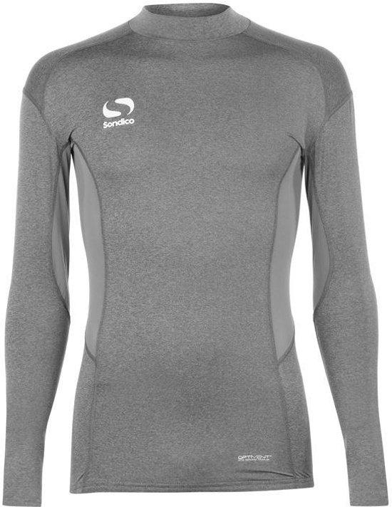 Sondico ondershirt / sportshirt met opstaande kraag - Jongens - Grey Marl - 164