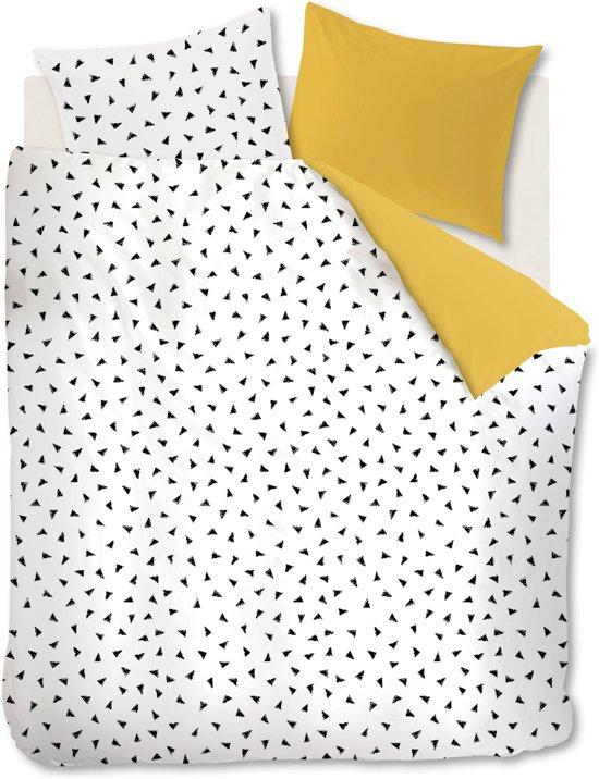 Ambiante Lana - Dekbedovertrek - Eenpersoons - 140x200/220 cm - Geel