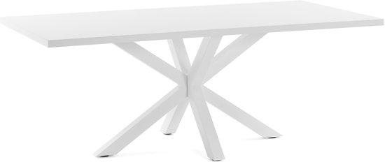 Witte Eettafel Design.Bol Com Kave Home Arya Eettafel 100x200cm Wit