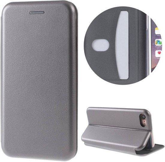 GSMWise - Apple iPhone 7 / 8 - PU Lederen Shell Cover met Kaarthouder - Grijs in Giessen