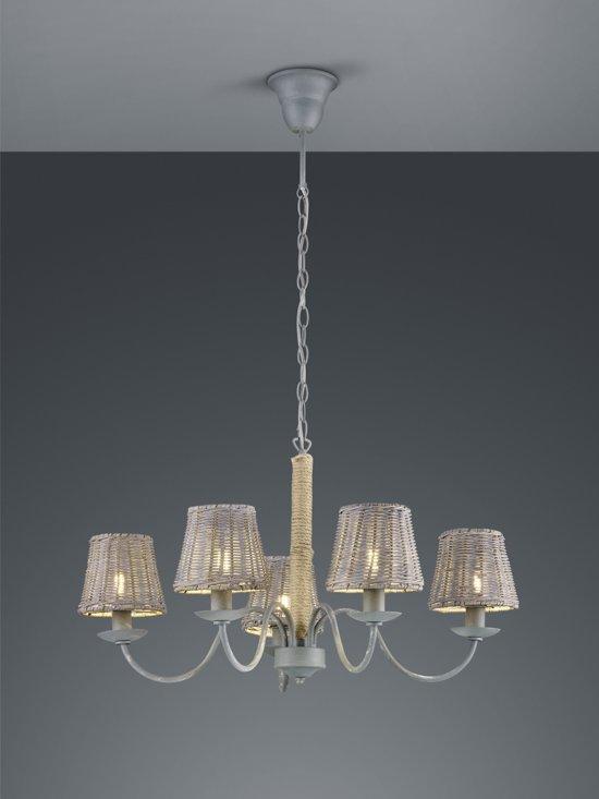 Babel klassieke hanglamp - 5 glazen lampenkapjes