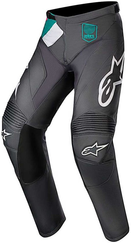 Alpinestars Crossbroek Racer Limited Edition Indy Vice Gray/Pink/Turquoise-36