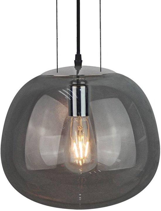 bol | moderne glazen hanglamp (gun grey)