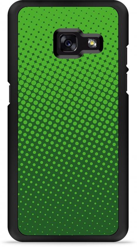 Galaxy A3 2017 Hardcase Hoesje groene cirkels