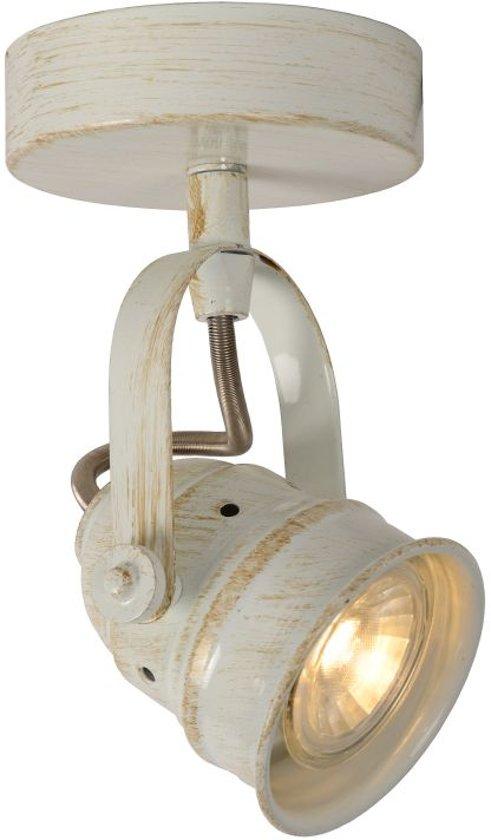 Lucide CIGAL - Plafondspot - Ø 9 cm - LED - GU10 - 1x5W 2700K - Antiek wit