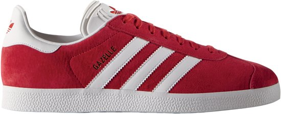 adidas Gazelle Sportschoenen - Maat 44 2/3 - Mannen - rood/wit