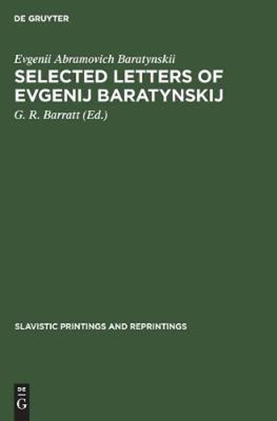 Selected letters of Evgenij Baratynskij