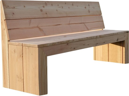 Tuinbank rugleuning design cm houten bank with houten bank for Houten tuinbank zelf maken