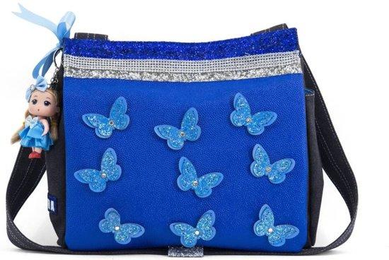 79464f91fa9 bol.com | Zebra Trends Canvas kindertas Vlinder Blauw Doll