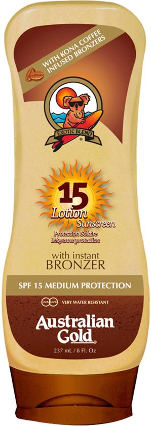Australian Gold SPF 15 Lotion met bronzer 237 ML