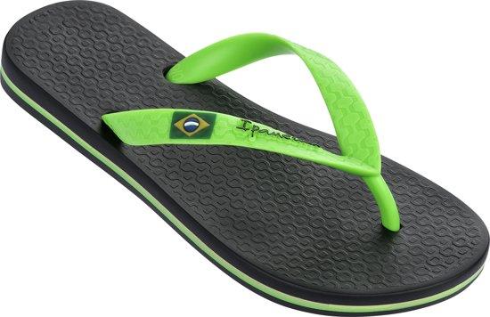 Ipanema Classic Brasil Kids Slippers - Black/Green - Maat 27/28