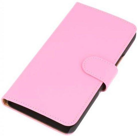 Mobieletelefoonhoesje.nl - Huawei Honor 3C Hoesje Effen Bookstyle Roze in Willaupuis